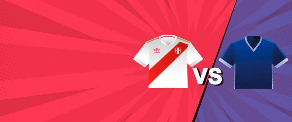 Perú vs. Escocia tarjeta del hincha