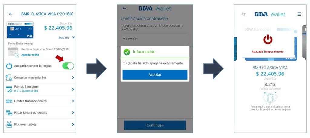 BBVA Wallet, proceso de apagados