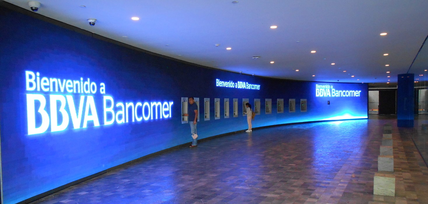 Open House Torre Bancomer, video wall de ATM