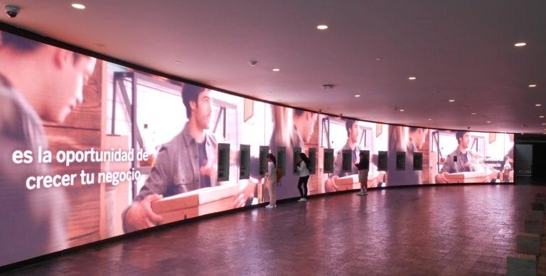 Open House Torre Bancomer, video wall de ATM