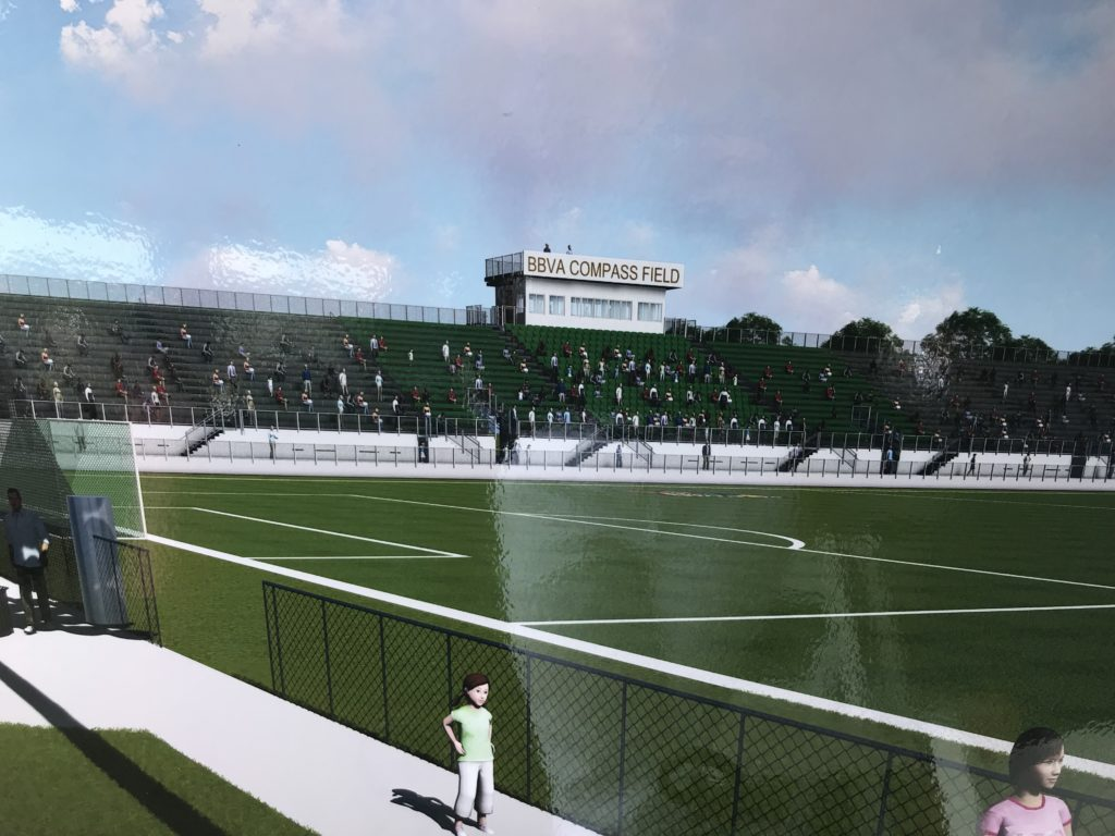 The UAB Department of Athletics, along with BBVA Compass and Birmingham Legion FC, celebrated the stadium expansion of BBVA Compass Field Wednesday on the campus of UAB.