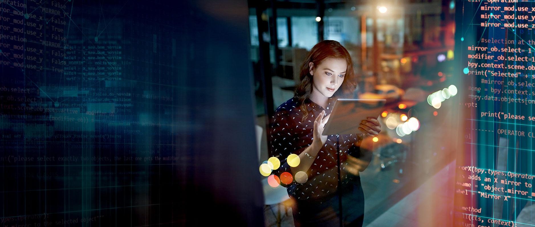 pagos-tablet-tecnologia-innovacion-digital-transformacion-mujer-bbva