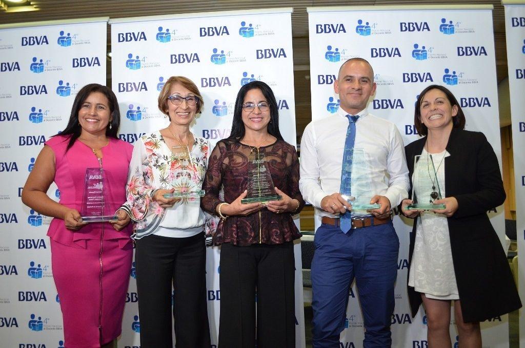 Ganadores del IV Premio Nacional al Docente BBVA Colombia