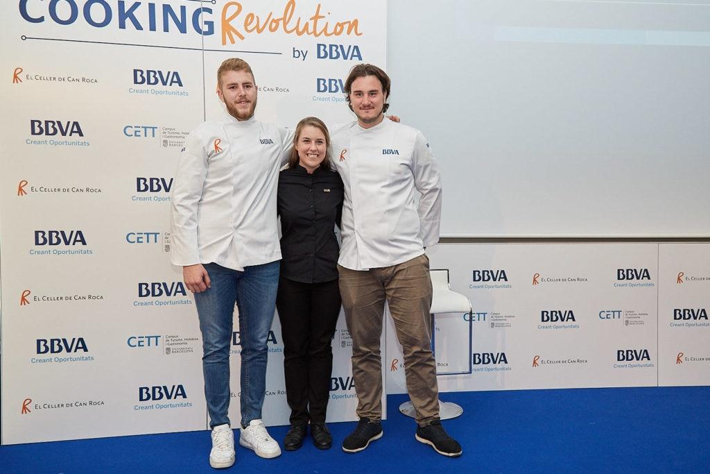 Josep, Júlia y Andrea disfrutarán de una Beca BBVA de Gastronomía en El Celler de Can Roca