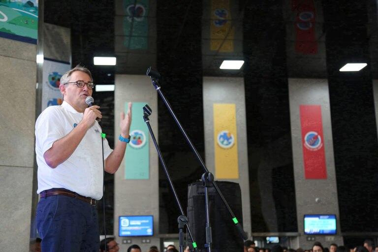Presidente-Óscar-Cabrera-durante-la-inauguración-del-Values-Day