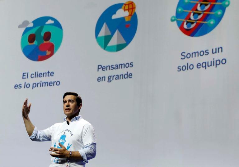 El consejero delegado de BBVA, Carlos Torres Vila, durante la clausura del BBVA Values Day
