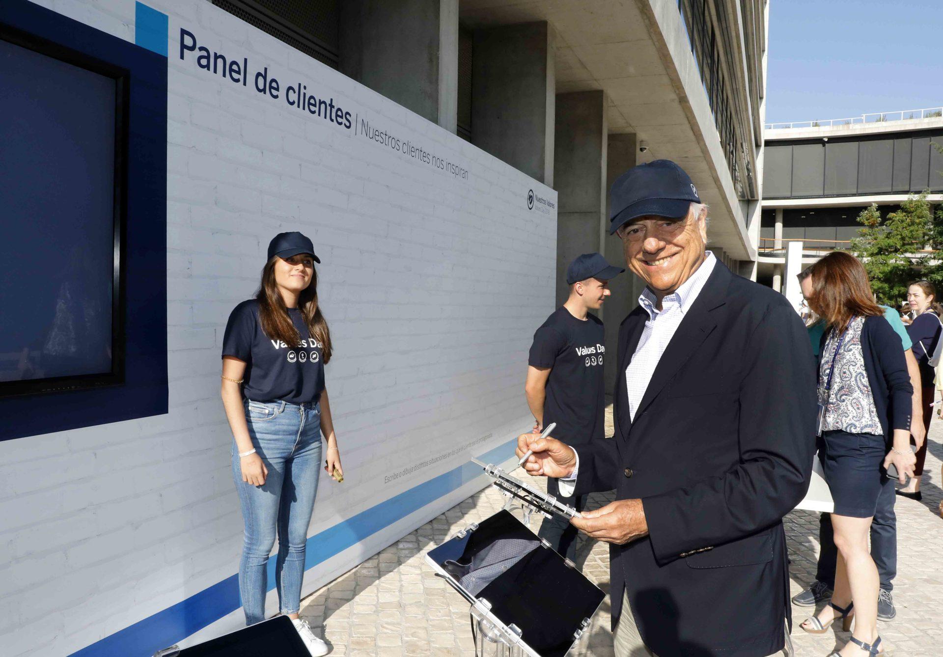 El presidente de BBVA Francisco González durante el BBVA Values Day