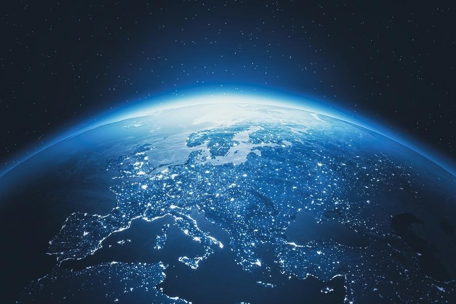 mundo, globo, mundial, luz, conectado recurso bbva