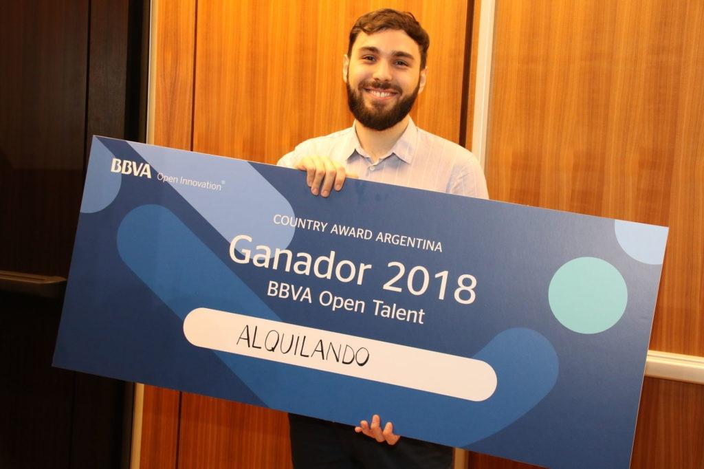 Carlos Missirian de Alquilando, ganador de BBVA Open Talent 2018 en Argentina
