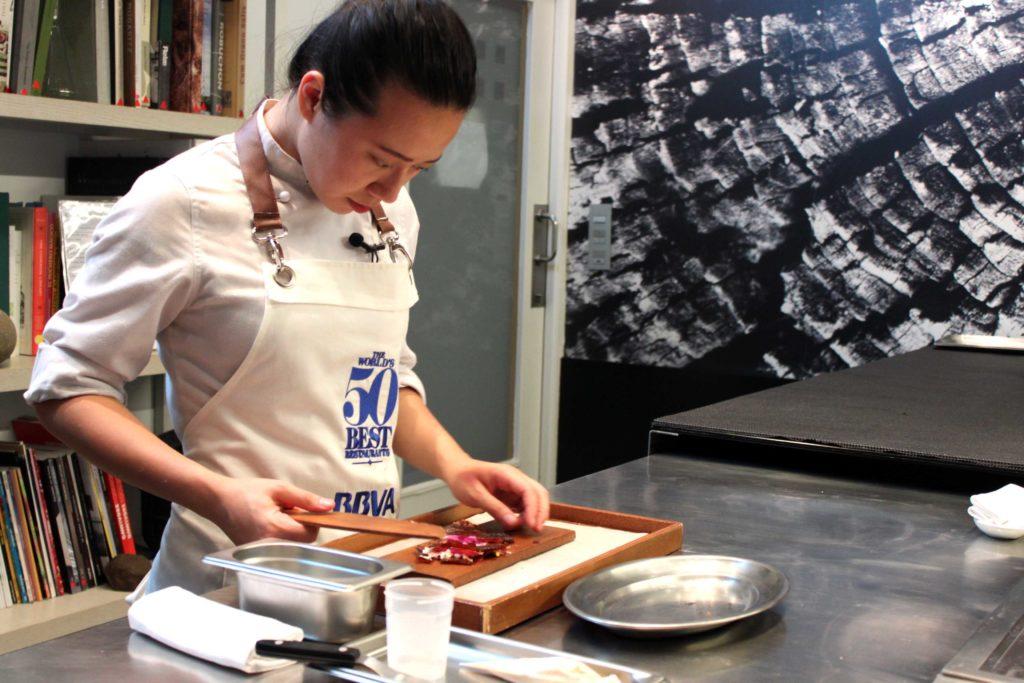 Jessie Liu, ganadora de la primera Beca 50 Best BBVA, en Mugaritz