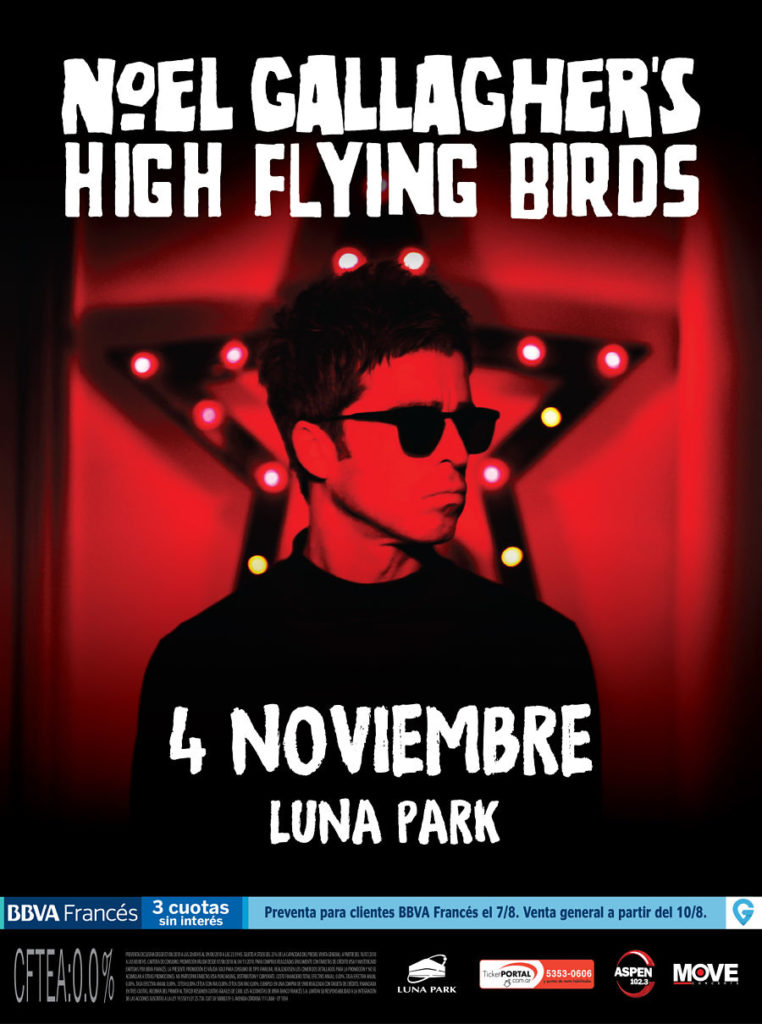 Noel Gallagher's High Flying Birds visita Argentina