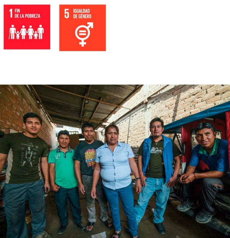 Fotografía de Lucy García, emprendedora peruana FMBBVA