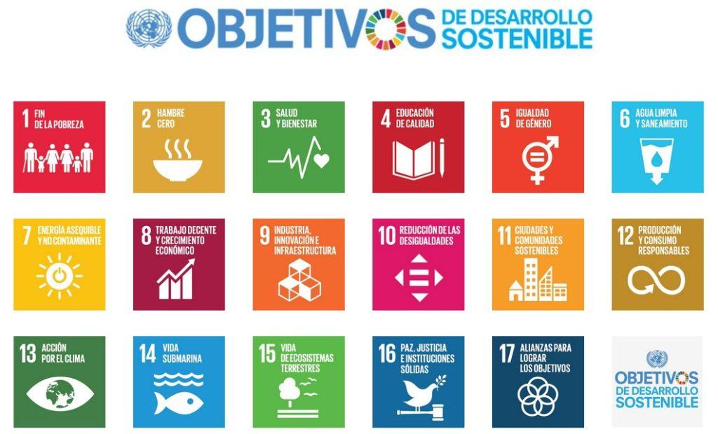 imágen de los 17 ODS del acuerdo de París