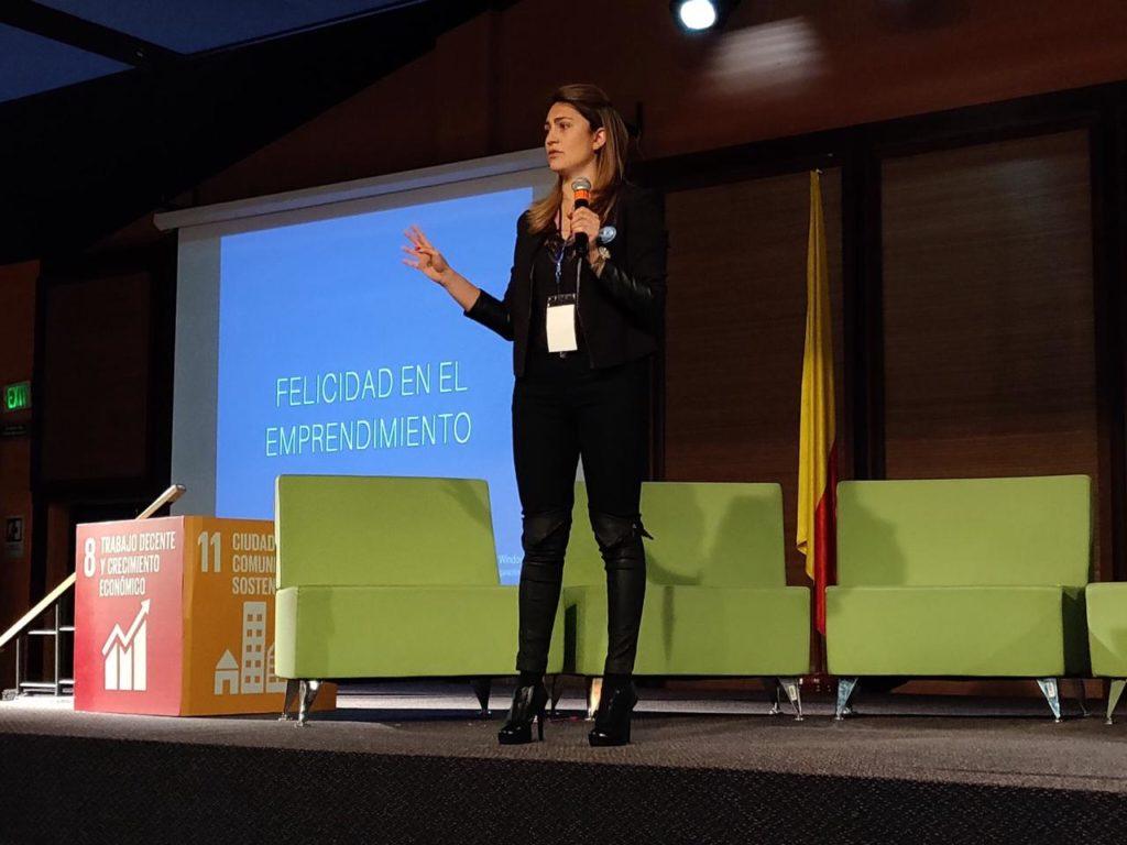 Fotografía de Pilar Sanabria, directora de Escuela para el Emprendimiento, participó en Lidera el Cambio, evento patrocinado por BBVA