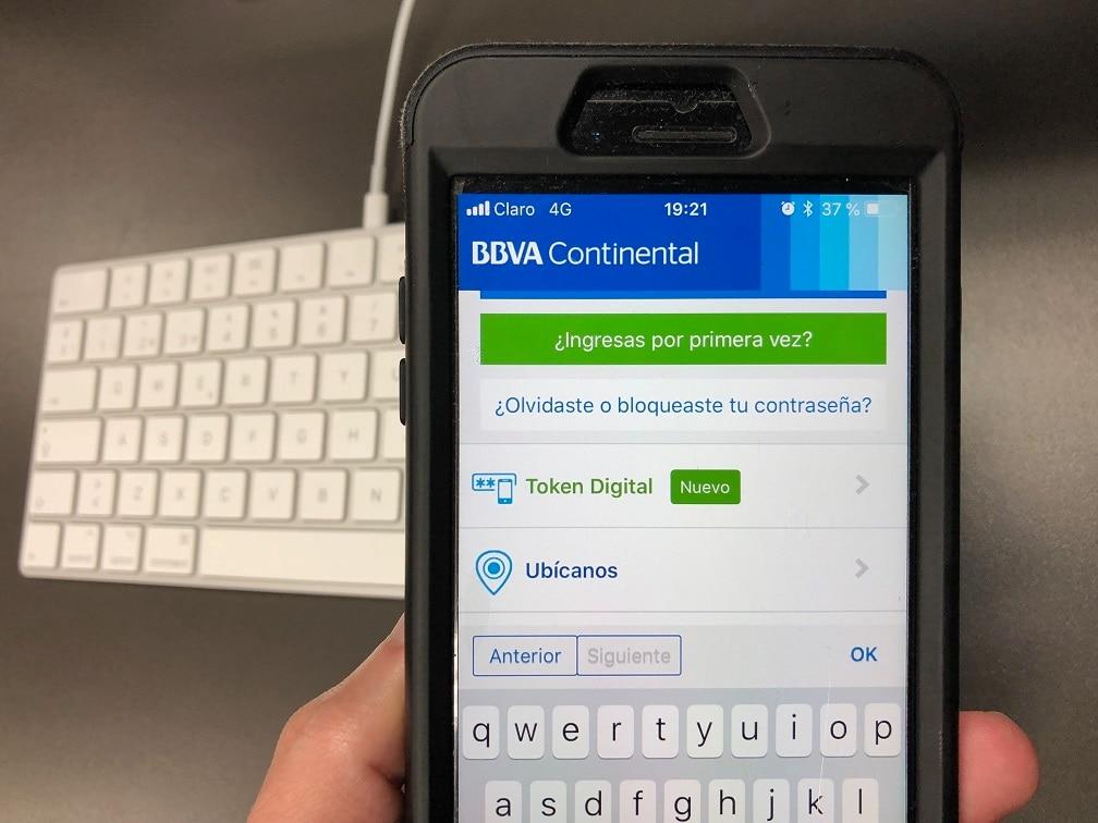 El token digital llegó a la Banca Móvil de BBVA Continental.