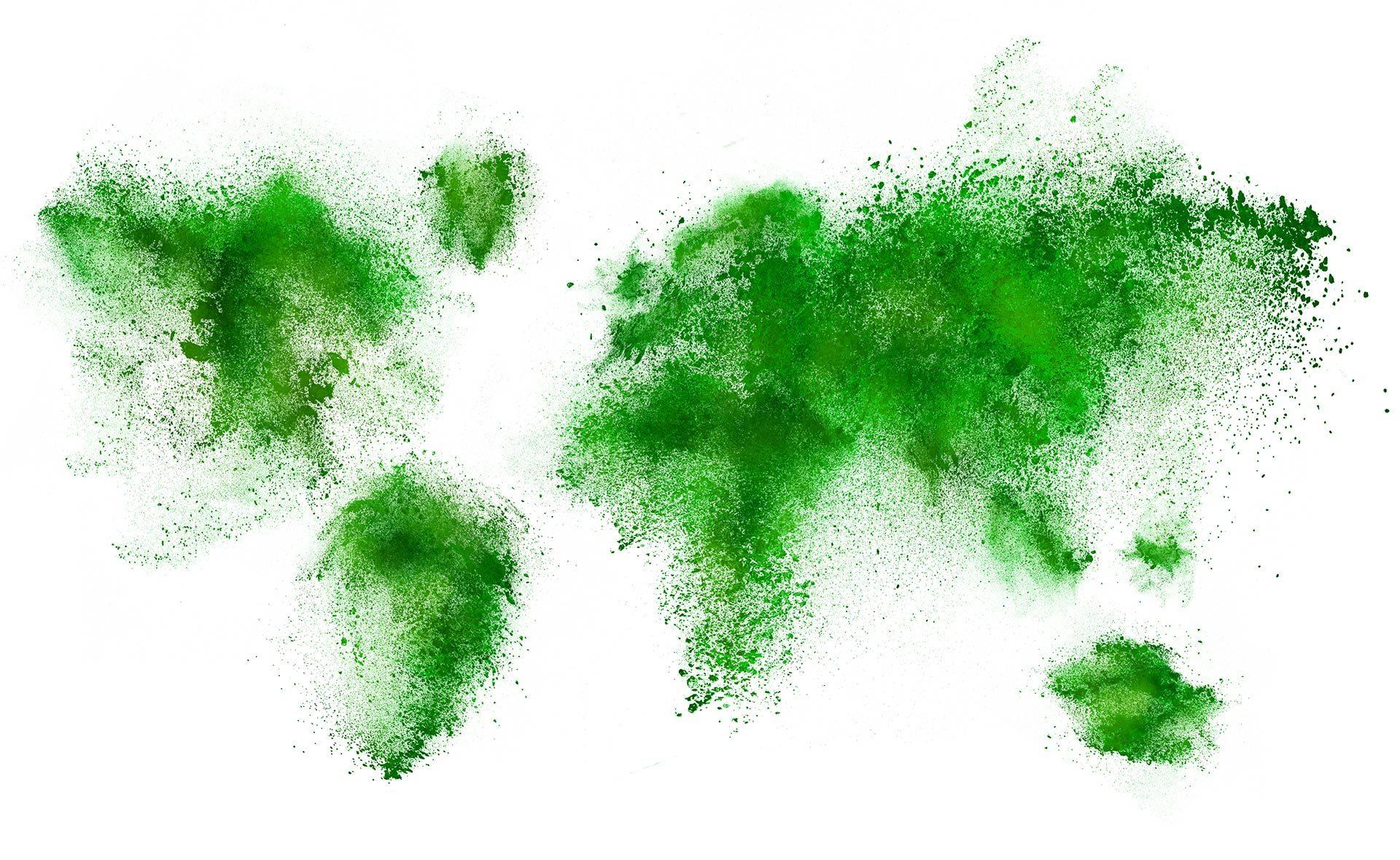 fotografia de mapamundi verde BBVA