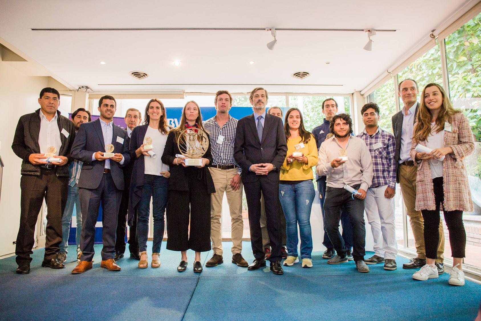 Ganadores de las cuatro categorías del Premio al Emprendedor Agropecuario BBVA Francés, 2018