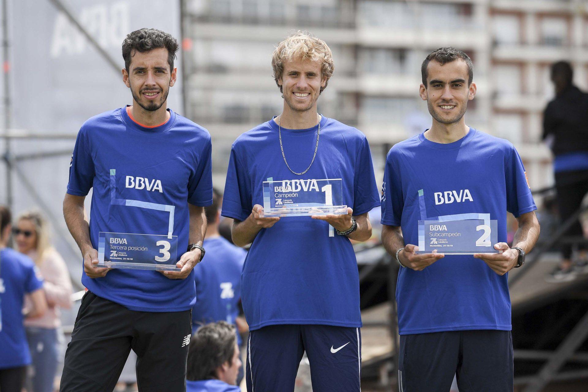 Ganadores rama masculina 7K BBVA 2018
