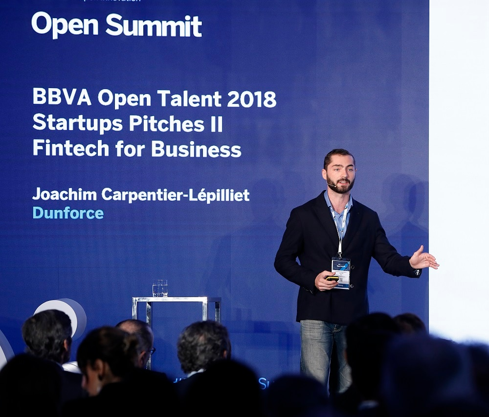 Joachim Carpentier-Lépilliet Dunforce ganador bbva open talent 2018 emprendimiento startups recurso bbva