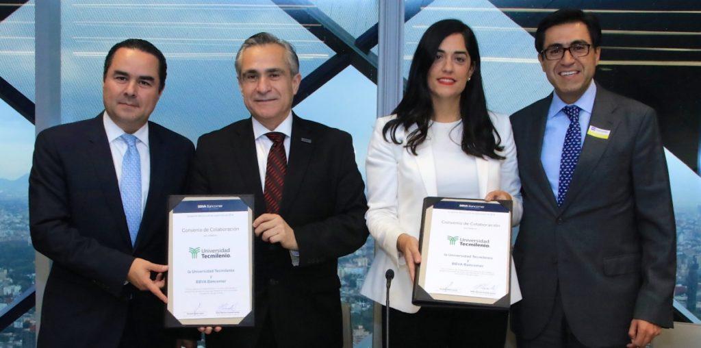 Firma de convenio TecMilenio BBVA Bancomer