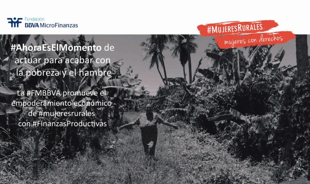 Flyer campaña FAO #MujeresRurales - FMBBVA
