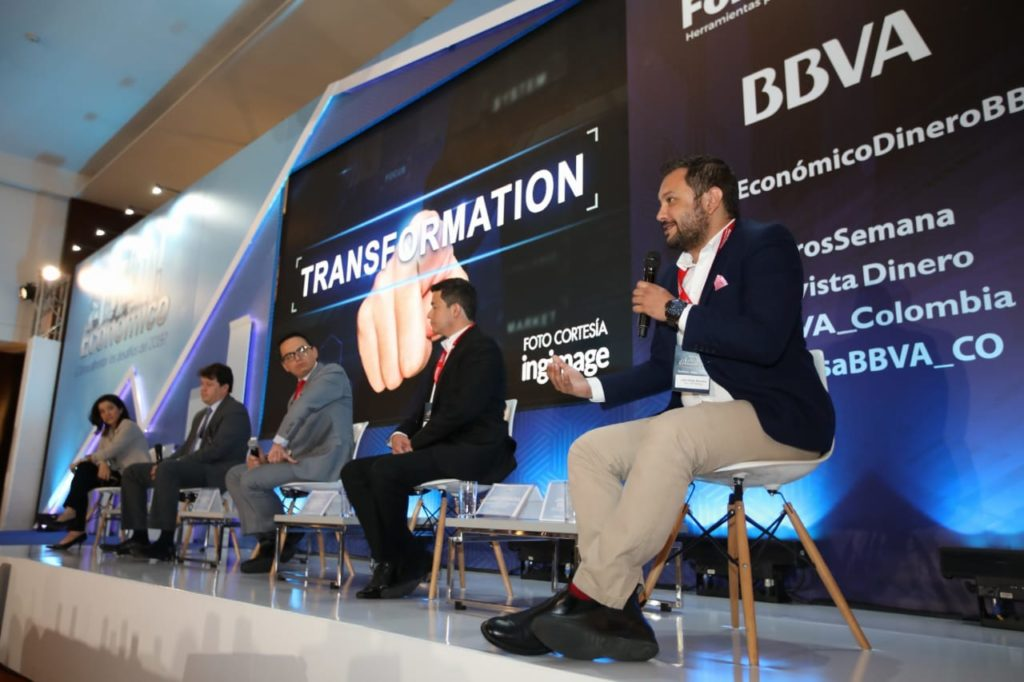Fotografías de Juan Diego Becerra, CEO de Raddar durante el Gran Foro Económico Como enfrentar los desafíos para 2019 organizado por BBVA y la revista Dinero