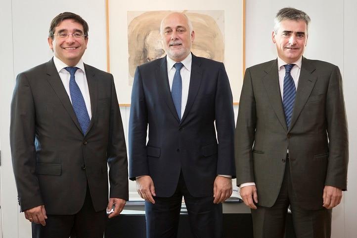 equipo directivo BBVA Catalunya: Llinares Terribas y Piera