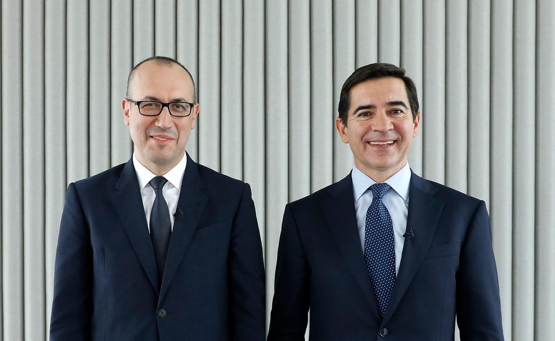 Onur Genç consejero delegado BBVA y Carlos Torres Vila presidente ejecutivo de BBVA