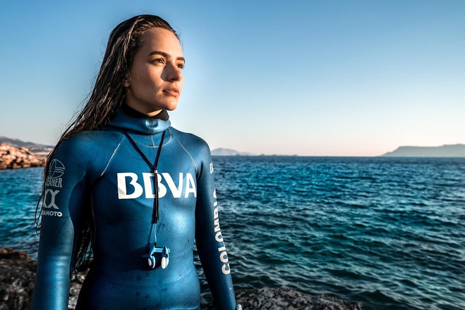 Sofía Gómez, apneista colombiana patrocionada por BBVA, habla de sus retos para 2019