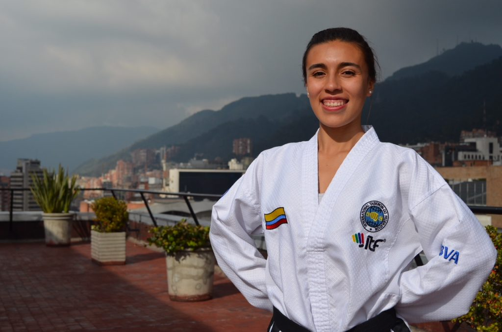 Honey Ospina, deportista patrocinada por BBVA Colombia