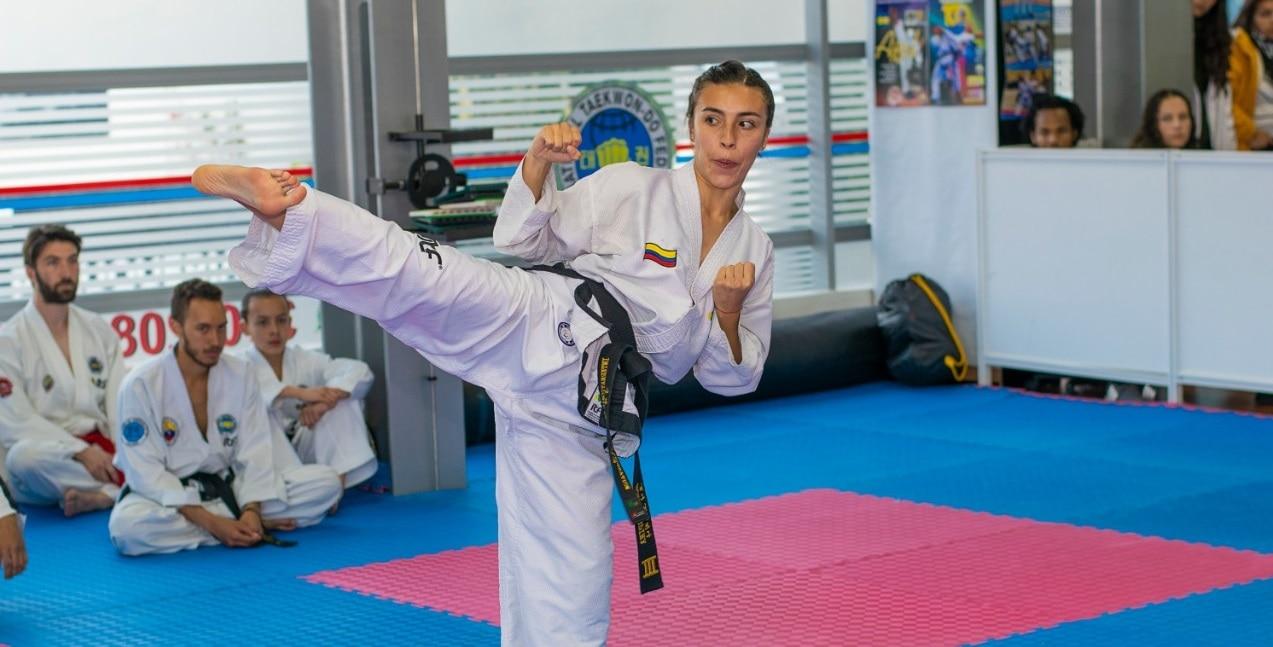 Honey Ospina, taekwondista colombiana patrocinada por BBVA