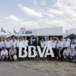 Visita institucional de Martín Zarich, presidente ejecutivo de BBVA Francés a Expoagro.