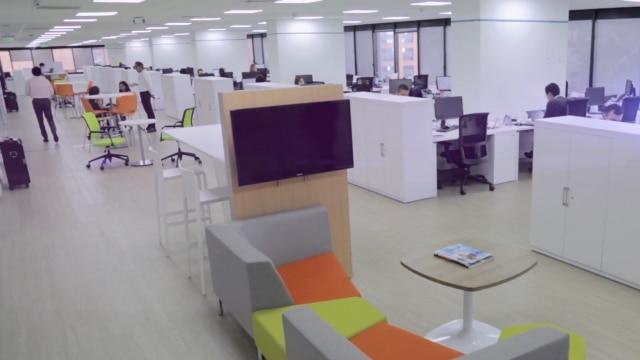 Espacios remodelados de trabajo para los colaboradores del edificio de BBVA Colombia