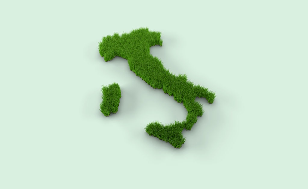 Fotografía de Italia, mapa, sostenibilidad, bota, verde, cesped, sostenible