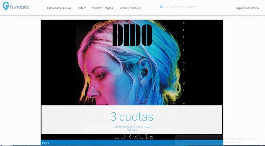 Beneficios exclusivos para clientes de BBVA en el show de Dido