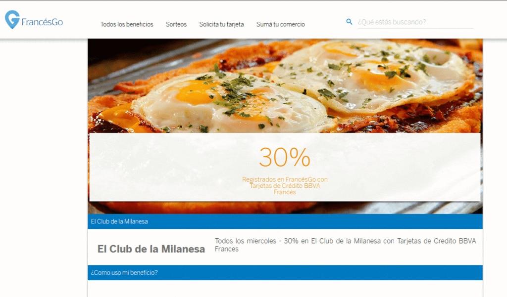 Beneficios en gastronomía con tarjetas de BBVA Francés