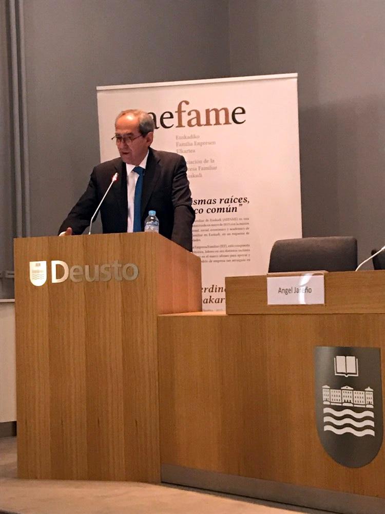 José Manuel González Páramo evento AEFAME Bilbao, mayo 2019