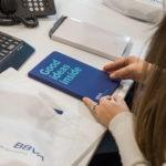 Torre BBVA Argentina los equipos de trabajo experimenten la nueva identidad corporativa.