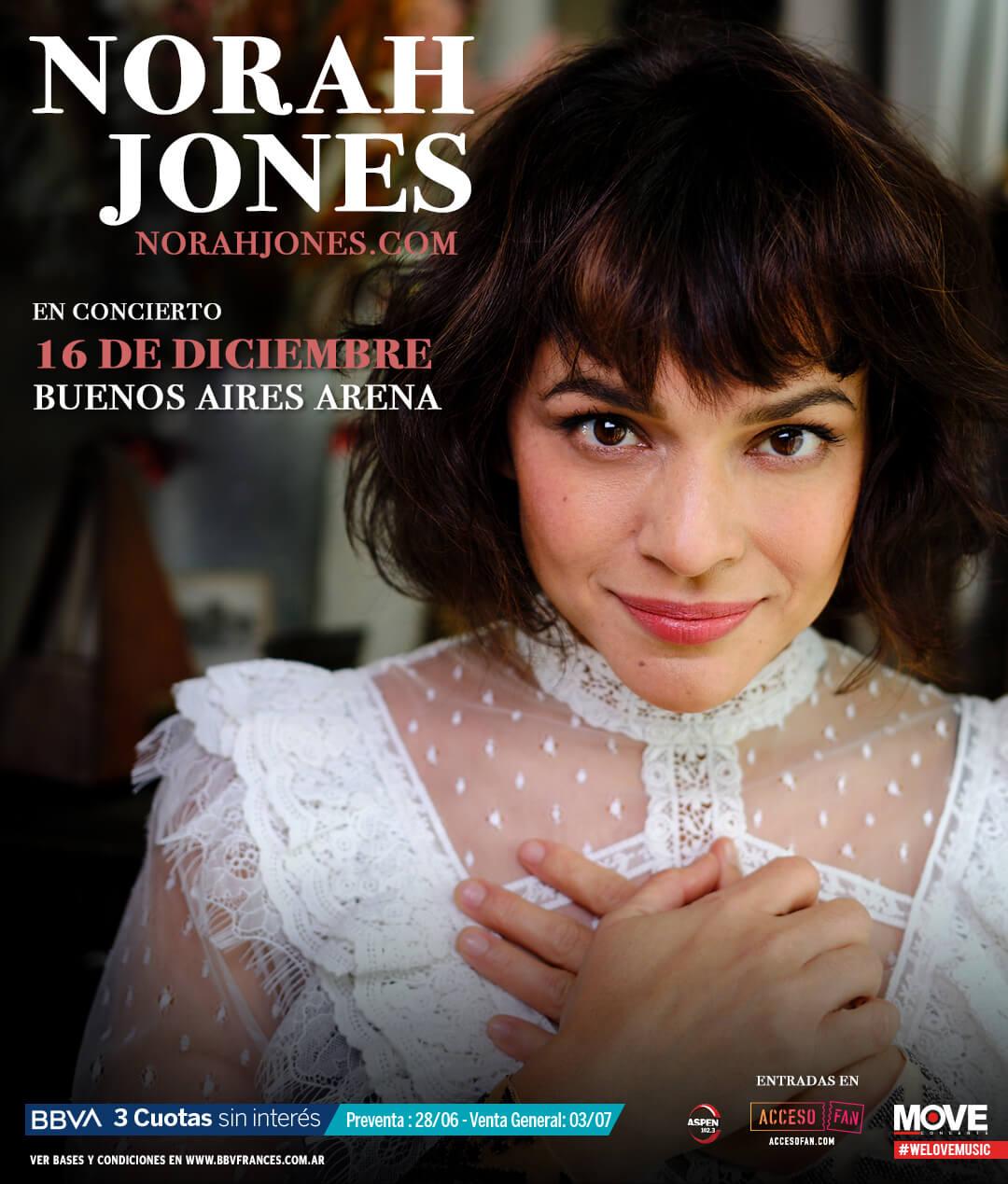 Nora Jones en Argentina