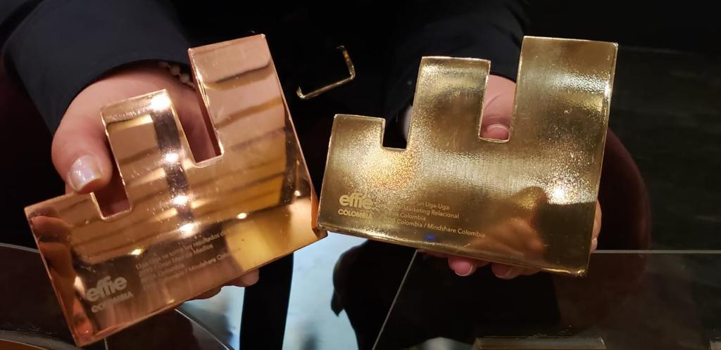 Premios Effies obtenidos por BBVA en Colombia 2019 - oro y bronce