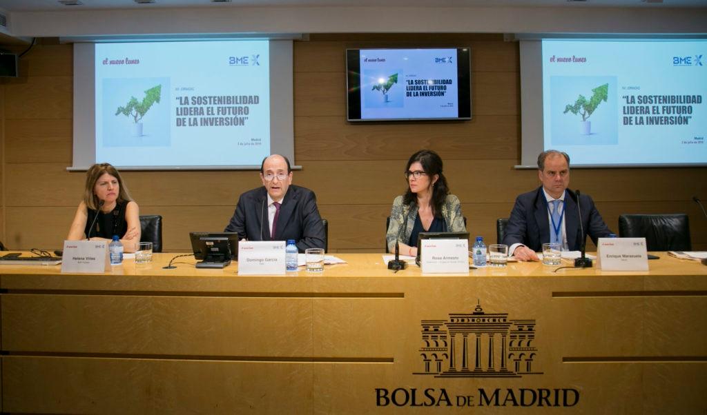 imagen de Enrique Marazuela BBVA Banca Privada jornada sostenibilidad Bolsa de Madrid