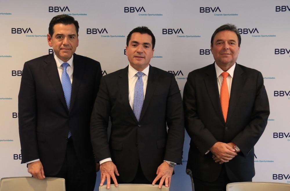 Eduardo Osuna, Ignacio de la Luz, Jorge Terrazas, BBVA México