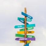 Fotografía de sostenibilidad, acrónimos, carteles, direcciones, cambio climático, medio ambiente
