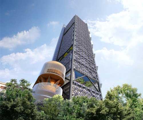 Cuatro proyectos de arquitectura sustentable en México - Torre BBVA