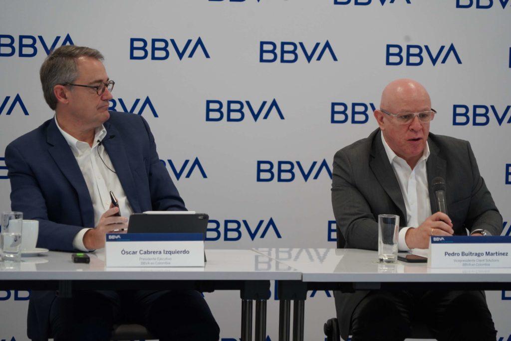 Oscar Cabrera Presidente de BBVA Colombia - Pedro Buitrago Vicepresidente de Client Solutions