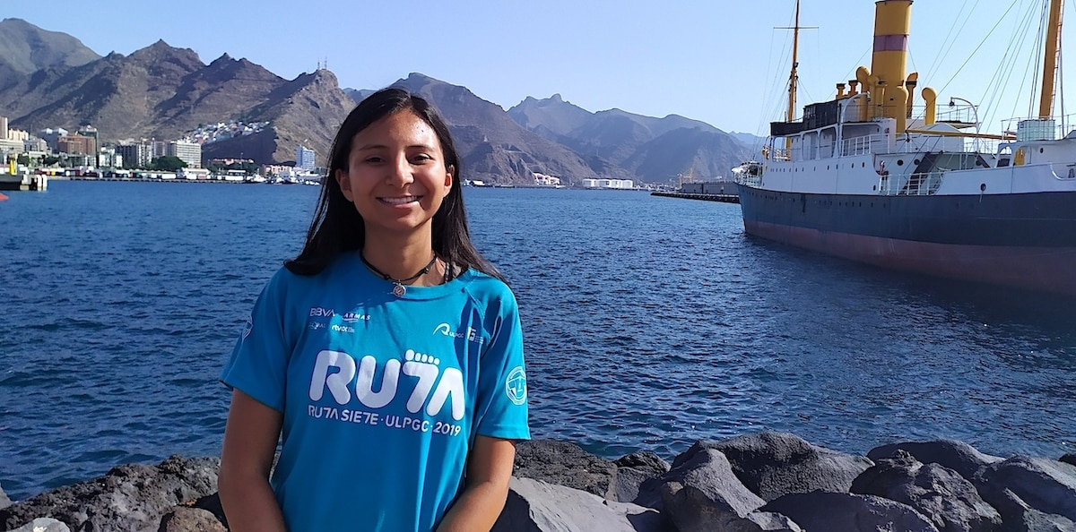 María José Porras, colombiana en Ruta Siete