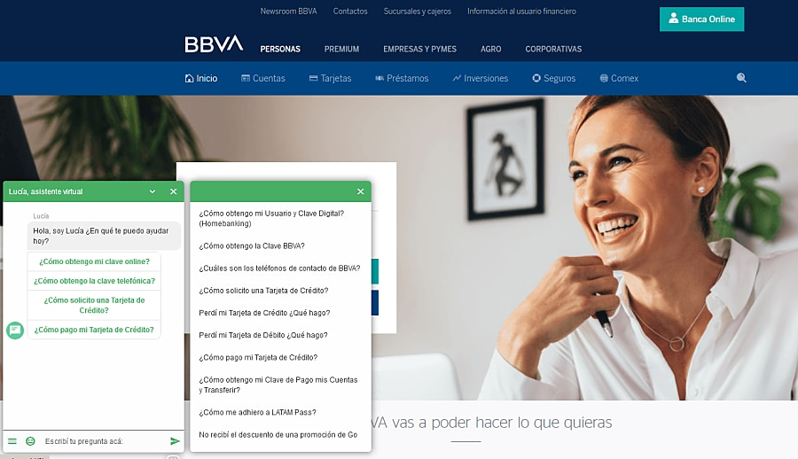 Chatbot-Lucía-BBVA-Argentina