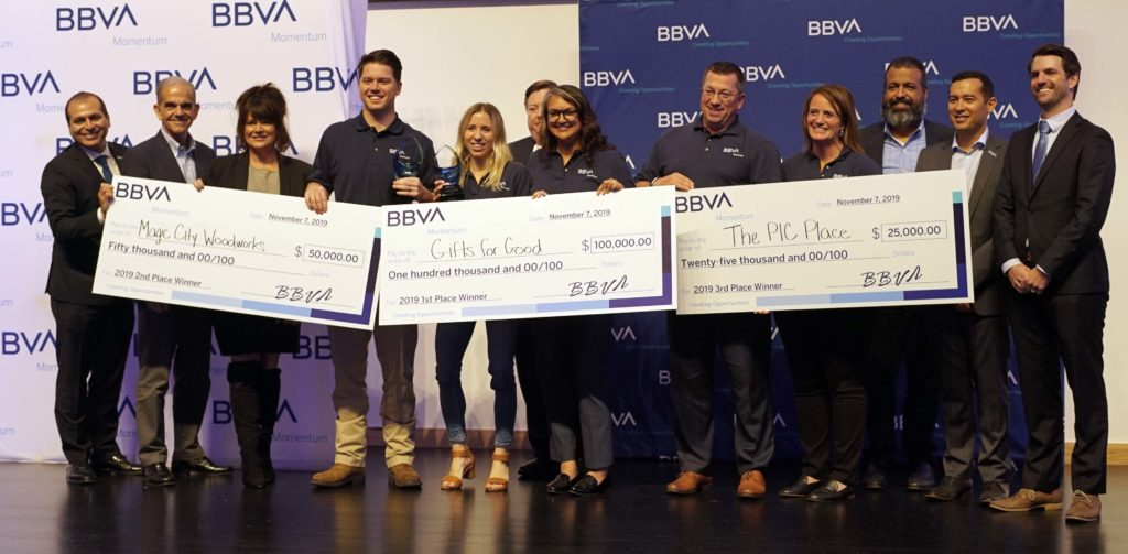 BBVA names Gifts for Good winner of $100,000 prize during finale of BBVA Momentum 2019