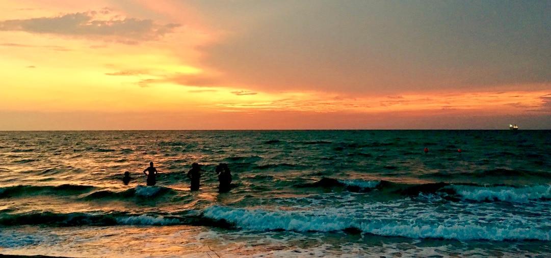 Los colores del mar y del cielo en Tolú, Sucre.