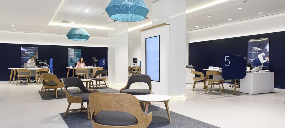 Interior 'Blue Branch' BBVA en España